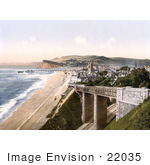 #22035 Stock Photography Of A Coastal Bridge In Teignmouth Devon England United Kingdom