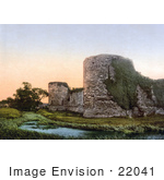 #22041 Stock Photography Of The Ruins Of Pevensey Castle In Wealden East Sussex England Uk