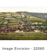 #22060 Stock Photography of the Agricultural Village of Taddiport and the Rolle Canal in Torrington, Devon, England, United Kingdom by JVPD