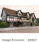 #22067 Stock Photography Of The Birthplace Of William Shakespeare In Stratford Warwickshire