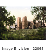 #22068 Stock Photography Of The Ruins Of Wilton Castle In Herefordshire England