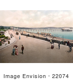 #22074 Stock Photography Of The Street And Promenade Near The Beach And Pier In Paignton Devon England Uk