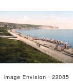 #22085 Stock Photography Of Changing Cart Cabins On The Beach For People To Change Clothes In Swanage Dorset England Uk