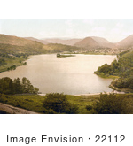 #22112 Historical Stock Photography Of The Lakefront Village Of Grasmere Lake District Cumbria England Uk
