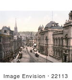 #22113 Historical Stock Photography Of High Street In Bath Somerset England Uk