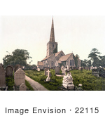 #22115 Historical Stock Photography Of The Burial Grounds Of St Mary'S Church In Lydney Forest Of Dean Gloucestershire England Uk
