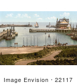 #22117 Historical Stock Photography Of A Steamer And Sailboats In The Harbour Of Lowestoft Waveney Suffolk East Anglia England Uk
