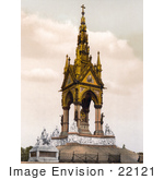 #22121 Historical Stock Photography Of The Albert Memorial With The Frieze Of Parnassus In Kensington Gardens London England