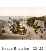 #22122 Historical Stock Photography Of The Coastal Village Of Portland Isle Of Portland Dorset England United Kingdom