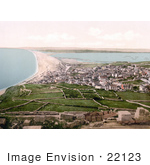 #22123 Historical Stock Photography Of Chesil Beach Bank On The Isle Of Portland Dorset England Uk