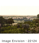 #22124 Historical Stock Photography Of A Garden With A View On Lydney Forest Of Dean Gloucestershire England Uk