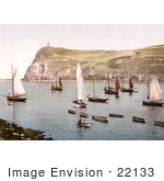 #22133 Historical Stock Photography Of Port Erin Isle Of Man England
