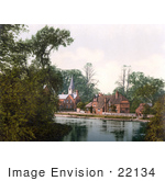 #22134 Historical Stock Photography Of The Church On The River Thames In Whitechurch Dorset England