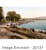 #22137 Historical Stock Photography Of The Waterfront Promenade In Swanage Isle Of Purbeck Dorset England Uk