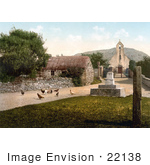 #22138 Historical Stock Photography Of Free Range Chickens At The St Maughold Church In Ramsey Isle Of Man England