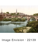 #22139 Historical Stock Photography Of Shrewsbury Shropshire West Midlands England United Kingdom