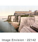 #22142 Historical Stock Photography Of The Fort And Coastal Cliffs In Margate Thanet Kent England Uk
