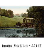 #22147 Historical Stock Photography Of The Palladian Bridge And The Prior Park Collegebath Somerset England Uk