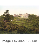#22149 Historical Stock Photography Of The Grounds Of The Wellington Hotel In Royal Tunbridge Wells Kent England United Kingdom