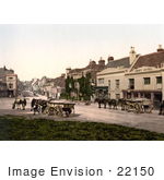 #22150 Historical Stock Photography Of Horses Pulling Loads On High Street In Battle Rother East Sussex England Uk