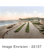 #22157 Historical Stock Photography Of Bathing Saloon Carts On The Beach Near The Pier In Teignmouth Teignbridge Devon England Uk