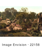 #22158 Historical Stock Photography Of The Village Of Cockington Torquay Torbay Devon England Uk