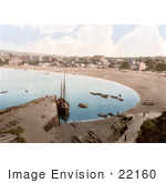 #22160 Historical Stock Photography Of Boats On The Water At Port Erin Isle Of Man England