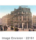 #22161 Historical Stock Photography Of A Street Scene On The Holborn Viaduct In London England