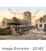 #22163 Historical Stock Photography Of St Mary'S Church In Morthoe Devon England