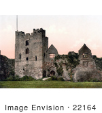 #22164 Historical Stock Photography Of The Ruins Of Ludlow Castle Shropshire England United Kingdom