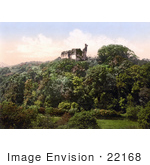 #22168 Historical Stock Photography Of Okehampton Castle On Top Of A Hill Devon England Uk