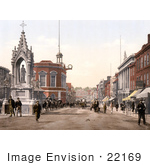 #22169 Historical Stock Photography Of The Statue Of Queen Victoria On High Street In Maidstone Kent England Uk