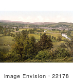 #22178 Historical Stock Photography Of The Village Of Monmouth Wales Monmouthshire England Uk