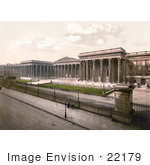 #22179 Historical Stock Photography Of The Exterior Of The British Museum In London England