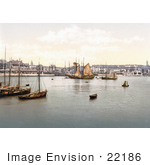 #22186 Historical Stock Photography Of Ships In The Harbour In Ramsgate Thanet Kent England Uk