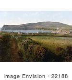 #22188 Historical Stock Photography Of A Man On A Path In Port Erin Isle Of Man England