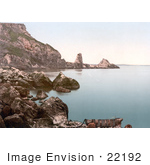 #22192 Historical Stock Photography Of Seagulls Flying At Anstey'S Cove In Torquay Torbay Devon England Uk