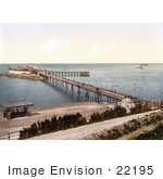 #22195 Historical Stock Photography Of The Birnbeck Pier On The Bristol Channel In Weston-Super-Mare North Somerset England Uk
