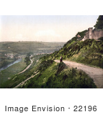#22196 Historical Stock Photography Of A View From Castle Hill On The River Torridge And Torrington Devon England Uk