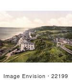 #22199 Historical Stock Photography Of The Sandgate Castle On The Beach In Sandgate Shepway Kent England Uk