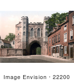 #22200 Historical Stock Photography Of The Edgar Tower In Worcester Worcestershire West Midlands England
