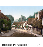 #22204 Historical Stock Photography Of Buildings In The Old Village Of Shanklin Isle Of Wight England Uk