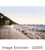 #22205 Historical Stock Photography Of The Ryde Bridge Or Pier In Ryde Isle Of Wight England Uk