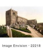 #22218 Historical Stock Photography Of Gravestones At The St Mary'S Church In Whitby North Yorkshire England United Kingdom