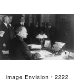 #2222 President Coolidge Signing The Tax Bill