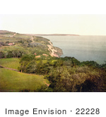 #22228 Historical Stock Photography Of Luccombe Isle Of Wight England Uk