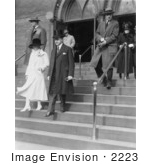 #2223 President And Mrs Coolidge Leaving First Congregational Church