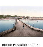 #22235 Historical Stock Photography Of The Pier In Sandown Isle Of Wight England Uk