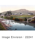 #22241 Historical Stock Photography Of The River Ribble At Horton Near The Pennyghent Mountain In North Yorkshire England