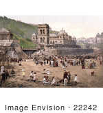 #22242 Historical Stock Photography Of The Beach At Scarborough North Yorkshire England Uk